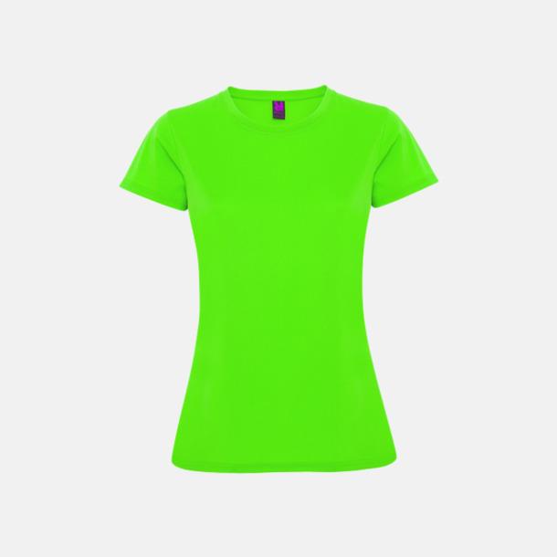 Limegrön (dam) Billiga sport t-shirts i unisex, dam & barn - med reklamtryck