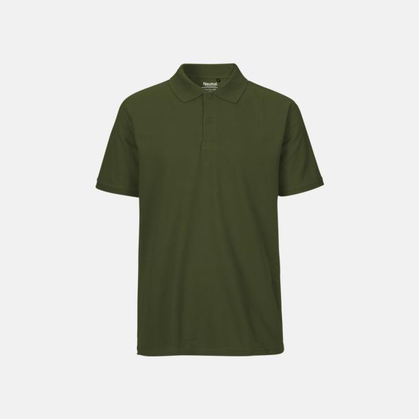 Military (herr) Fairtrademärkta pikétröjor i herr- och dammodeller med brodyr