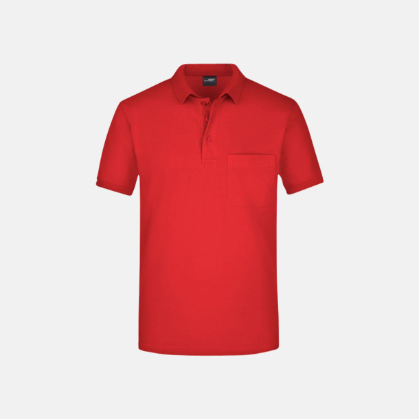 Fickförsedda pikétröjor med reklamtryck