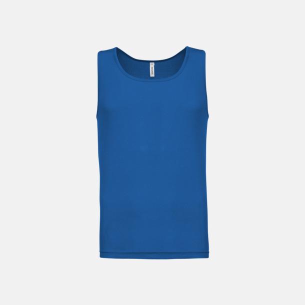 Sporty Royal Blue Herrlinnen av funktionsmaterial med reklamtryck