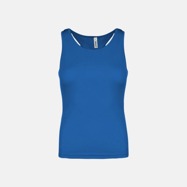 Sporty Royal Blue Linnen av funktionsmaterial med reklamtryck