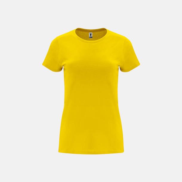 Gul Premium dam t-shirts med reklamtryck