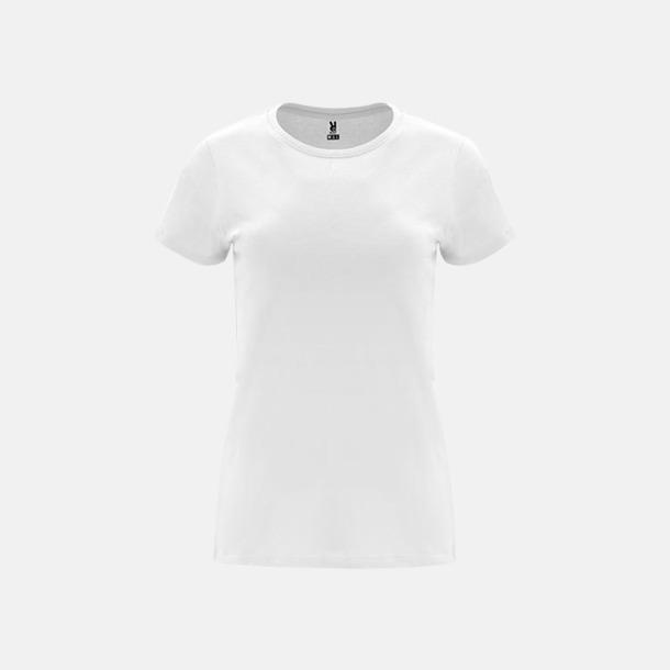 Vit Premium dam t-shirts med reklamtryck