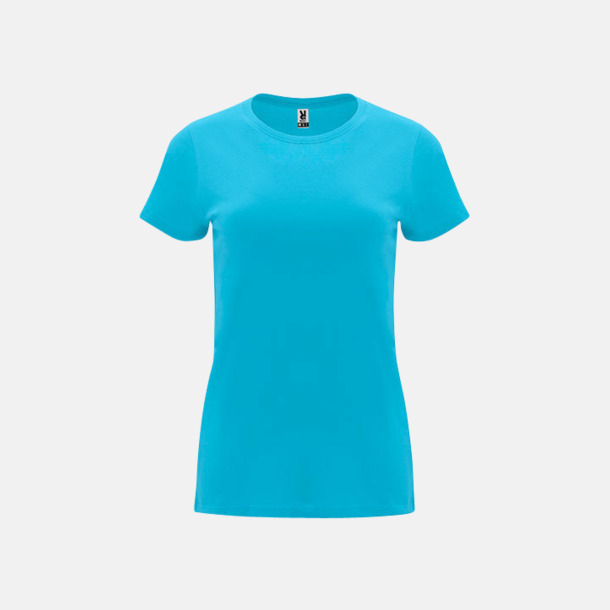 Turkos Premium dam t-shirts med reklamtryck