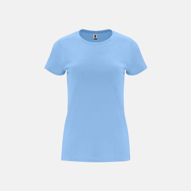 Sky Blue Premium dam t-shirts med reklamtryck
