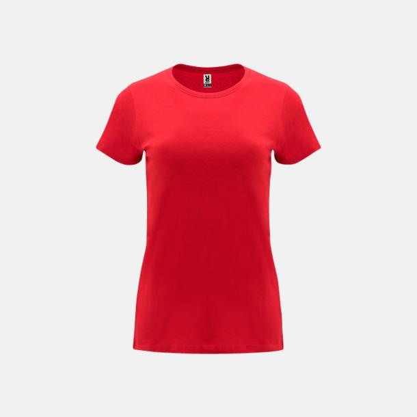 Röd Premium dam t-shirts med reklamtryck