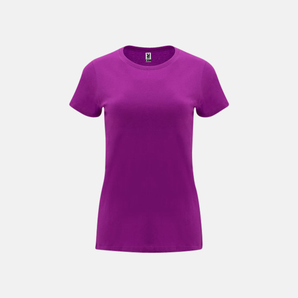 Lila Premium dam t-shirts med reklamtryck