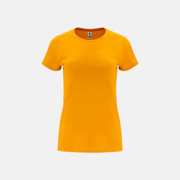 Orange Premium dam t-shirts med reklamtryck