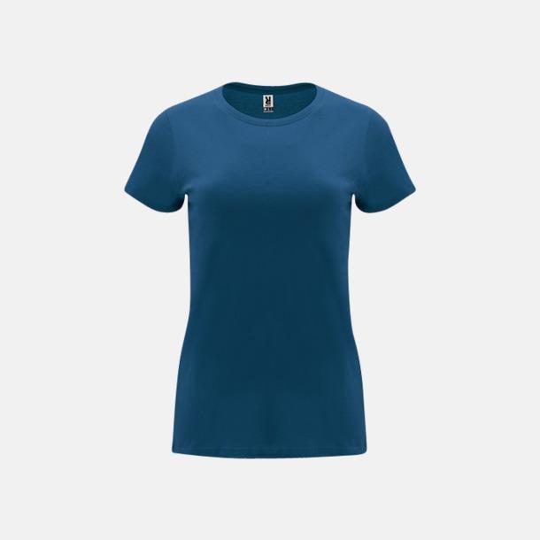 Marinblå Premium dam t-shirts med reklamtryck