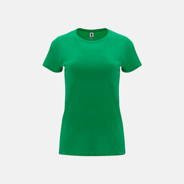 Kelly Green Premium dam t-shirts med reklamtryck