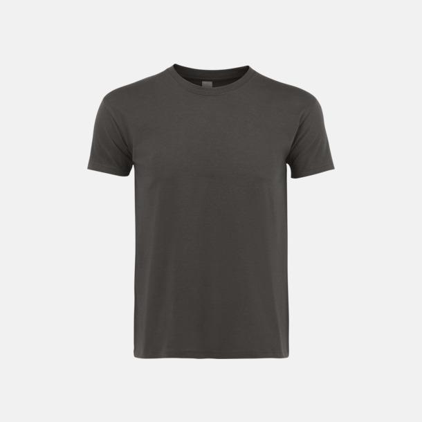 Mörkgrå (solid) Billiga unisex t-shirts i många färger med reklamtryck