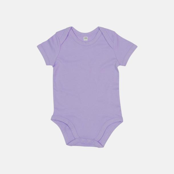 Lavender (kort) Ekologiska bodysuits med korta eller långa ärmar - med reklamtryck