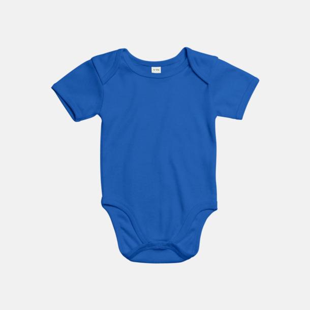 Cobalt Blue (kort) Ekologiska bodysuits med korta eller långa ärmar - med reklamtryck