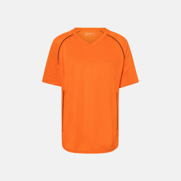 Orange / Svart T-shirt i funktionsmaterial