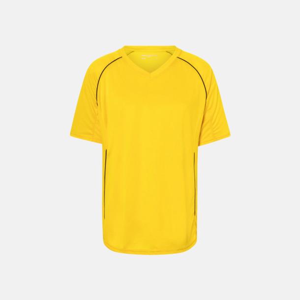 Gul / Svart T-shirt i funktionsmaterial