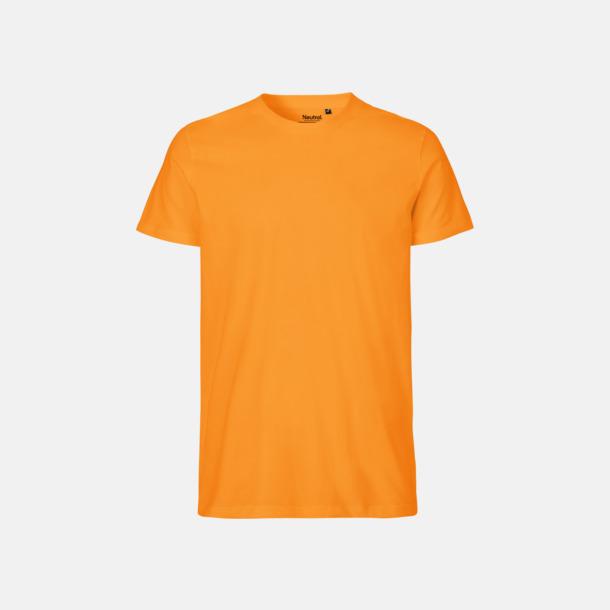 Okay Orange (herr) Fitted t-shirts i ekologisk fairtrade-bomull med tryck
