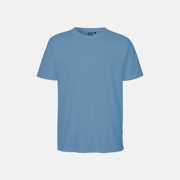Dusty Indigo Ekologiska fairtrade t-shirts med tryck