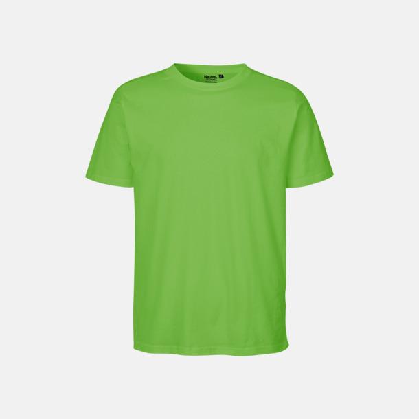 Lime Ekologiska fairtrade t-shirts med tryck