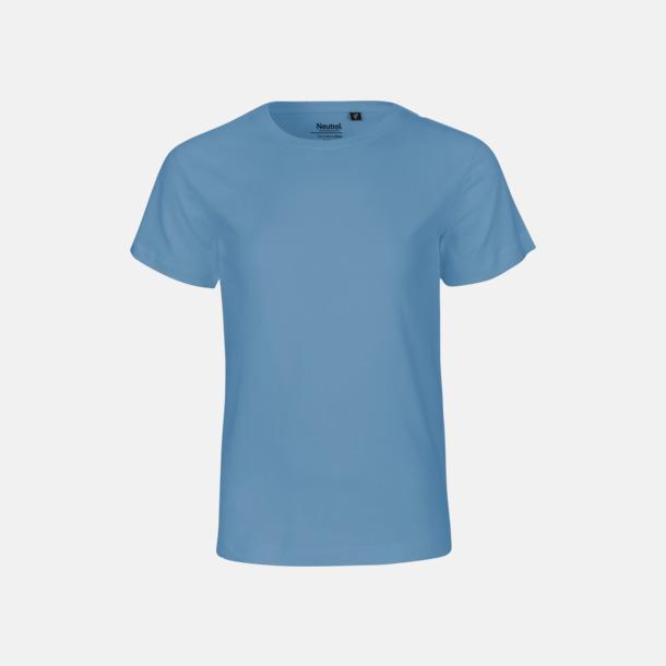 Dusty Indigo Ekologiska t-shirts för barn av ekologisk bomull - med tryck