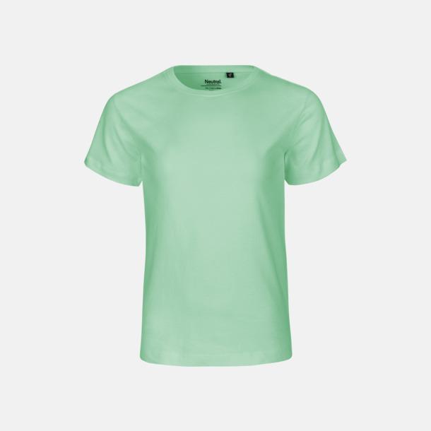 Dusty Mint Ekologiska t-shirts för barn av ekologisk bomull - med tryck