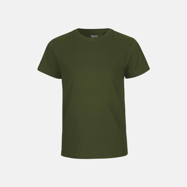 Military Ekologiska t-shirts för barn av ekologisk bomull - med tryck