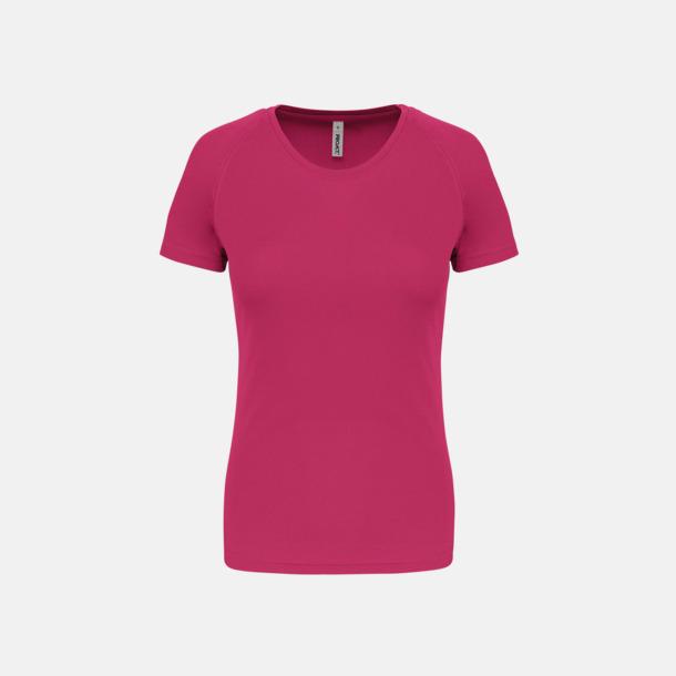 Fuchsia Sport t-shirts i många färger för damer - med reklamtryck