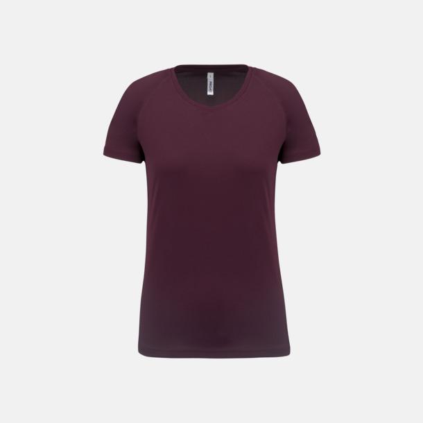 Wine Sport t-shirts i många färger för damer - med reklamtryck
