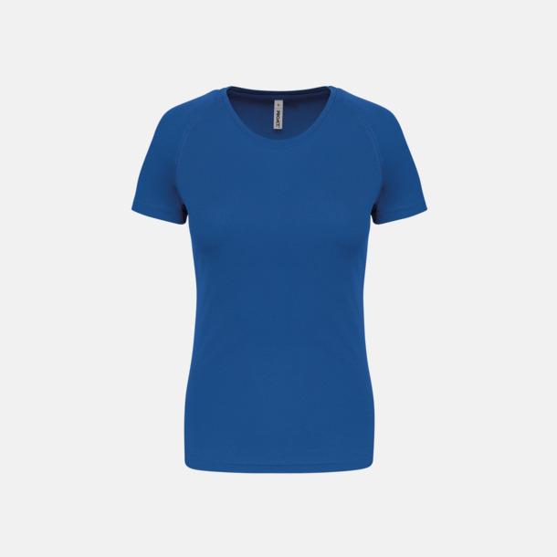 Sporty Royal Blue Sport t-shirts i många färger för damer - med reklamtryck