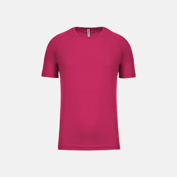 Fuchsia Sport t-shirts i många färger för herrar - med reklamtryck