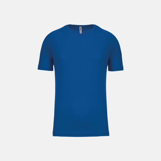 Sporty Royal Blue Sport t-shirts i många färger för herrar - med reklamtryck