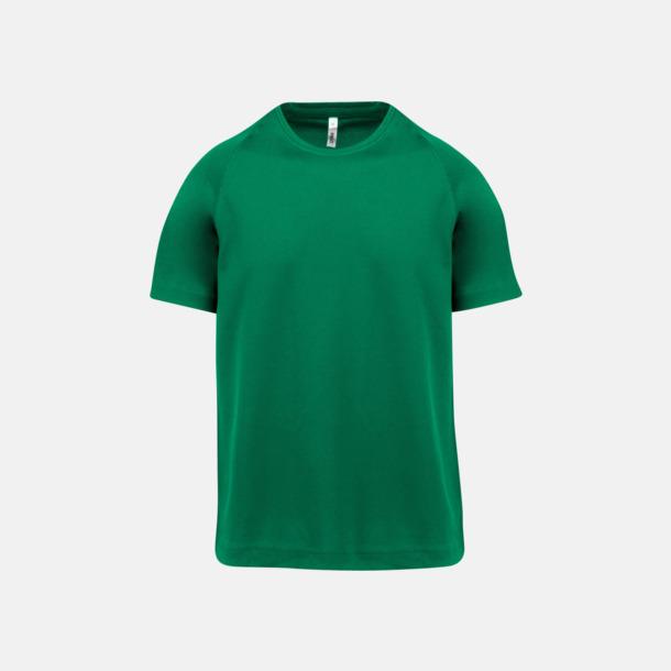 Kelly Green Funktions t-shirts i många färger för barn - med reklamtryck