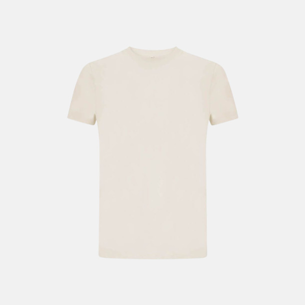 Ecru Unisex eko t-shirts med reklamtryck