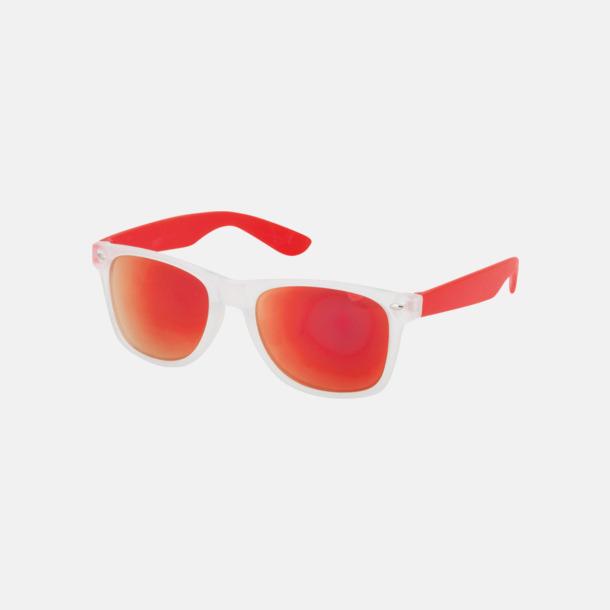 Röd Solglasögon med färgade glas - med tryck