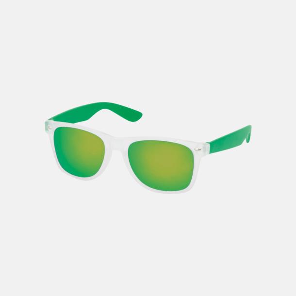 Grön Solglasögon med färgade glas - med tryck