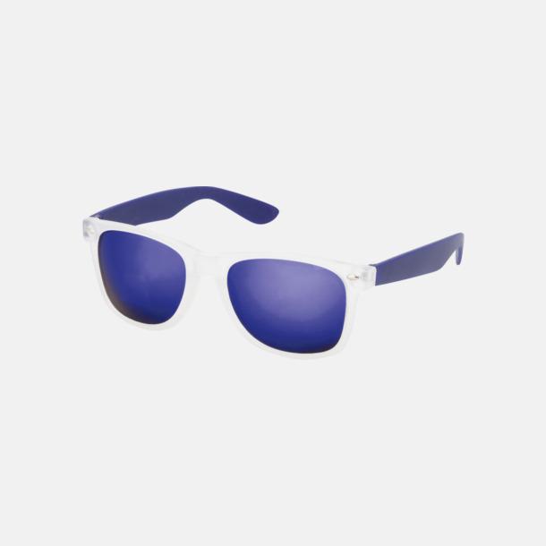 Marinblå Solglasögon med färgade glas - med tryck