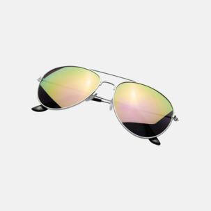 Aviator solglasögon med spegellinser - med reklamtryck