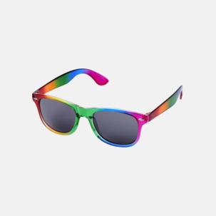 Regnbågsfärgade solglasögon med reklamtryck