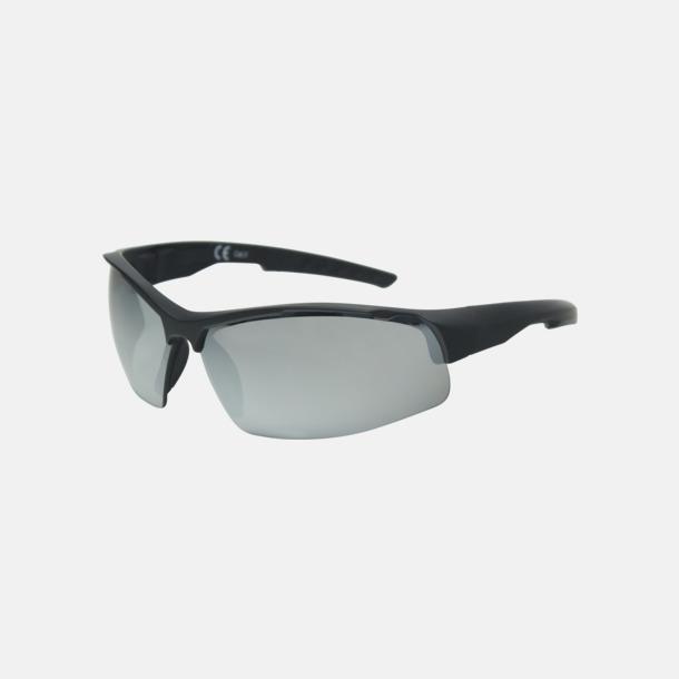 Svart Sportiga solglasögon med oljeglas - med reklamtryck