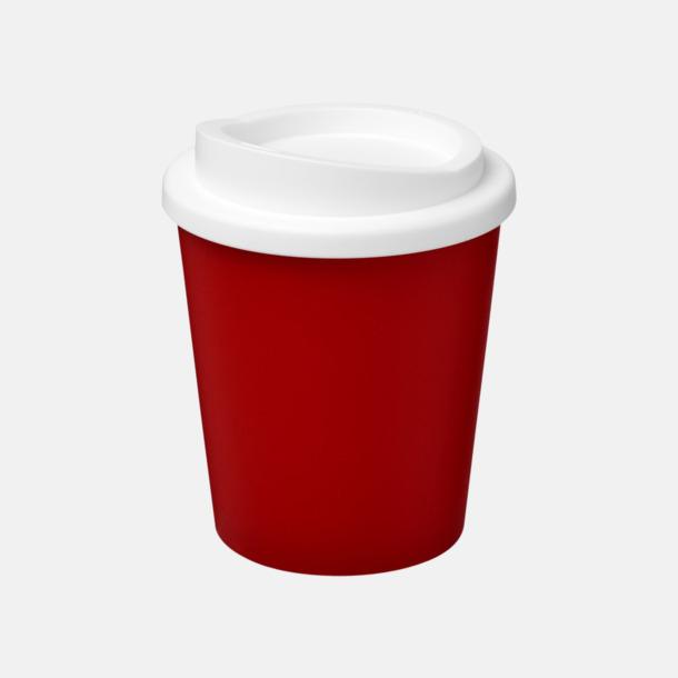 Röd / Vit Fina 25 cl take away-muggar med reklamtryck