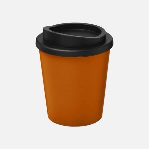 Orange / Svart Fina 25 cl take away-muggar med reklamtryck