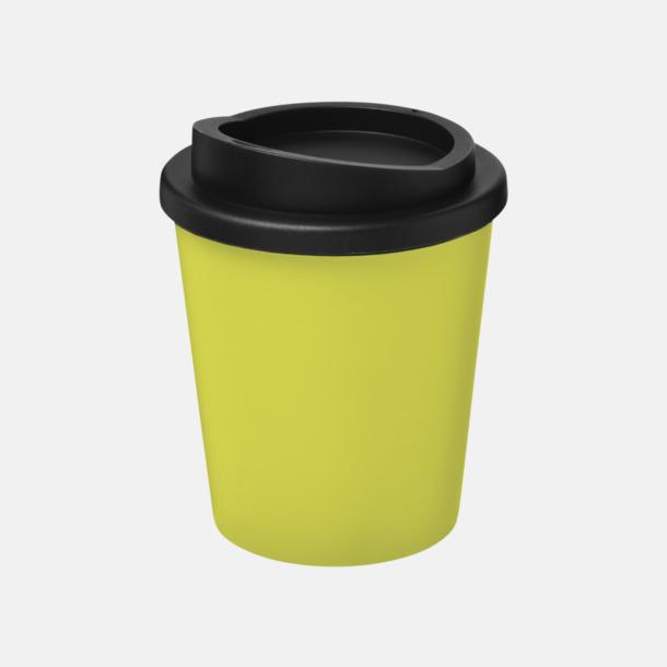 Lime/Svart Fina 25 cl take away-muggar med reklamtryck