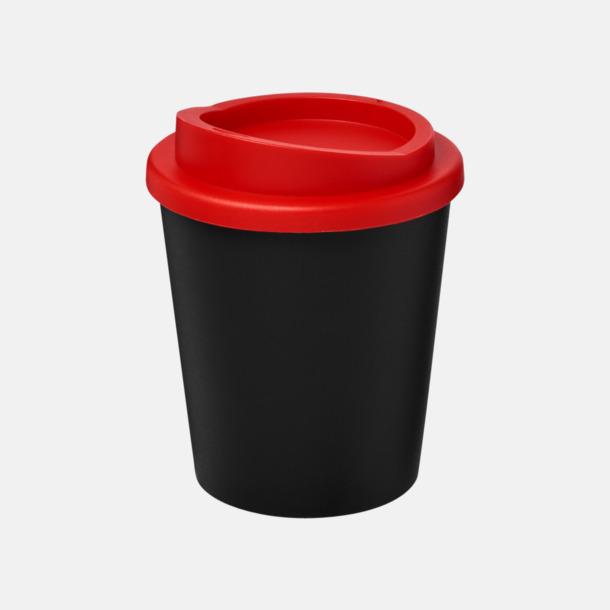 Svart / Röd Fina 25 cl take away-muggar med reklamtryck