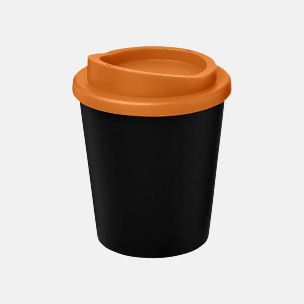 Svart / Orange Fina 25 cl take away-muggar med reklamtryck