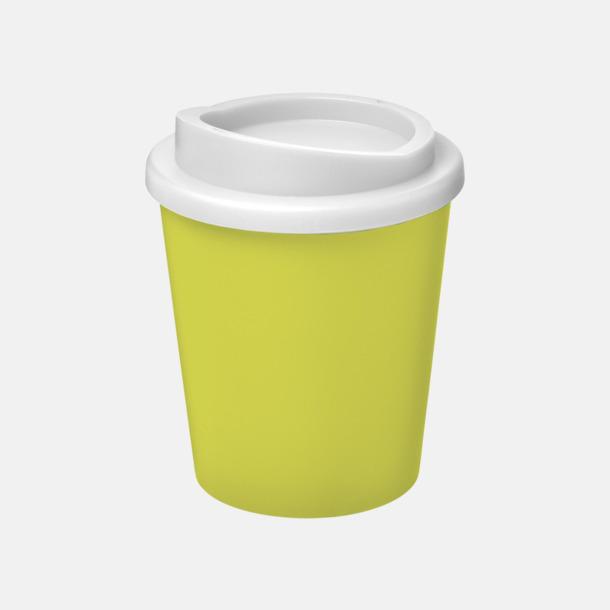 Lime/Vit Fina 25 cl take away-muggar med reklamtryck