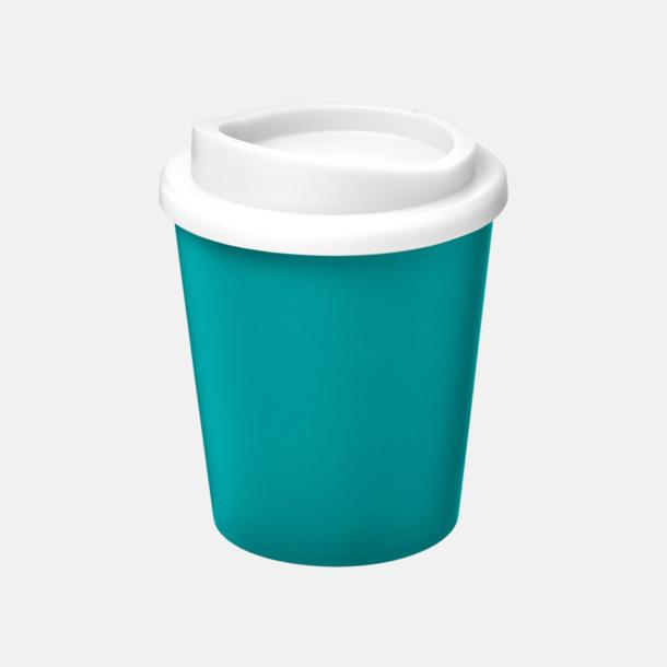 Aqua/Vit Fina 25 cl take away-muggar med reklamtryck