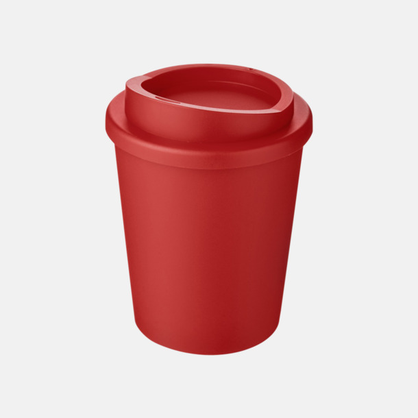 Röd Fina 25 cl take away-muggar med reklamtryck