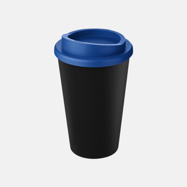 Svart/Mid Blue Take away-muggar i återvunnet material med reklamtryck