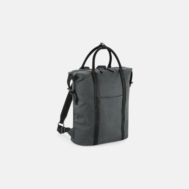 Graphite Grey Fina bomullsryggsäckar med reklamtryck