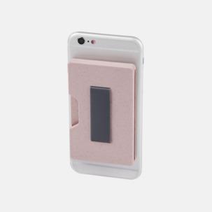 Mobilplånbok i vete med reklamtryck