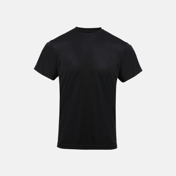 Svart Coolchecker t-shirts med reklamtryck